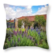 Spring Flowers In The Carmel Mission Garden Throw Pillow