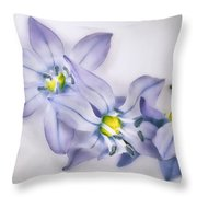 Spring Flowers On White Throw Pillow
