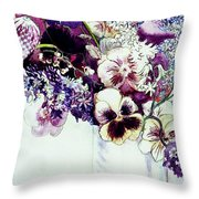 Spring Flowers With Fritillaria  Throw Pillow