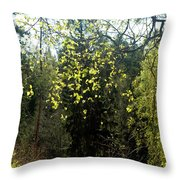 Spring Foliage Throw Pillow