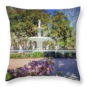 Spring Fountain Throw Pillow