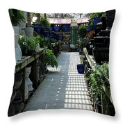 Spring Garden Center Throw Pillow