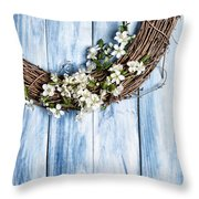 Spring Garland Throw Pillow