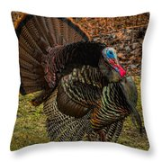 Spring Gobbler Throw Pillow