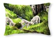 Spring Grasses Throw Pillow