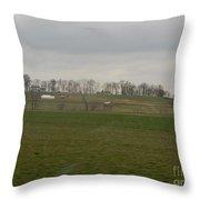 Spring Green Farmland Throw Pillow