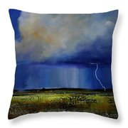Spring Green Pastures  Throw Pillow