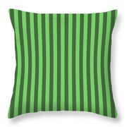 Spring Green Striped Pattern Design Throw Pillow