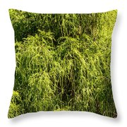 Spring Greens Throw Pillow