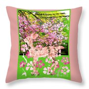 Spring Greeting With Poem Throw Pillow
