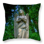 Spring Grove Angel Statue Throw Pillow