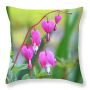 Spring Hearts - Flowers Throw Pillow