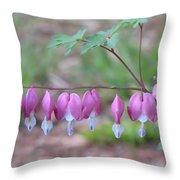 Spring Hearts Throw Pillow