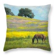 Spring Hill Grazing Throw Pillow