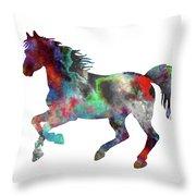 Spring Horse 2 Throw Pillow