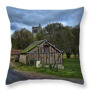 Spring House And Abbey Throw Pillow
