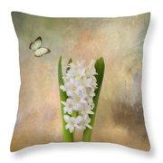 Spring Hyacinth Throw Pillow