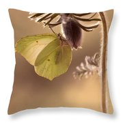 Spring Impression With Pasque Flower Throw Pillow