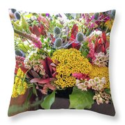 Spring In A Bucket Throw Pillow