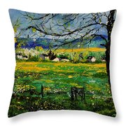Spring In Herock Throw Pillow