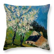 Spring In Hierges  Throw Pillow
