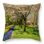 Spring In Keukenhof, Netherlands Throw Pillow