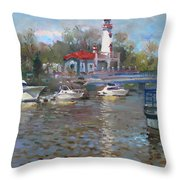 Spring In Lake Shore Throw Pillow