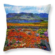 Spring In Namaqualand Throw Pillow