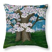 Spring In New York City Throw Pillow