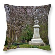 Spring In Oak Hill Cemetery #3 Throw Pillow
