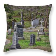 Spring In Oak Hill Cemetery #4 Throw Pillow