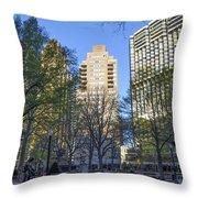 Spring In Philadelphia - Rittenhouse Square Throw Pillow