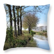 Spring In Sete, Montpellier, France Throw Pillow