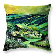 Spring In Tha Ardennes Throw Pillow
