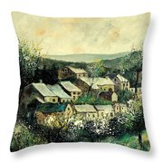 Spring In The Ardennes Belgium Throw Pillow