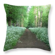 Spring In The Avenue Throw Pillow