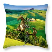 Spring In The Field 1 Throw Pillow
