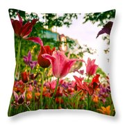 Spring In Tivoli Throw Pillow