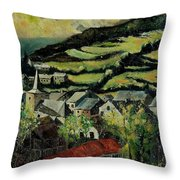 Spring In Vresse Ardennes Belgium Throw Pillow
