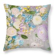 Spring Into Easter Throw Pillow