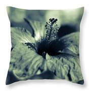 Spring Is Coming - Monochrome Throw Pillow