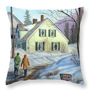Spring Is Just Around The Corner Throw Pillow