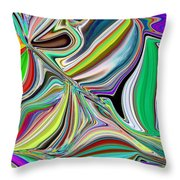 Spring Kaleidoscope Throw Pillow