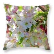 Cherry Kisses Throw Pillow by Louis Rivera