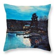 Spring Lake Nocturn Throw Pillow