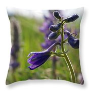 Spring Larkspur Throw Pillow