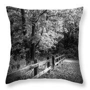 Spring Leaves B/w Throw Pillow