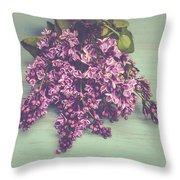 Spring Lilacs Throw Pillow