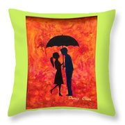 Sizzling Love Throw Pillow