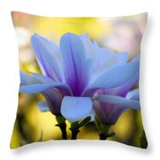 Spring Magnolia Throw Pillow
